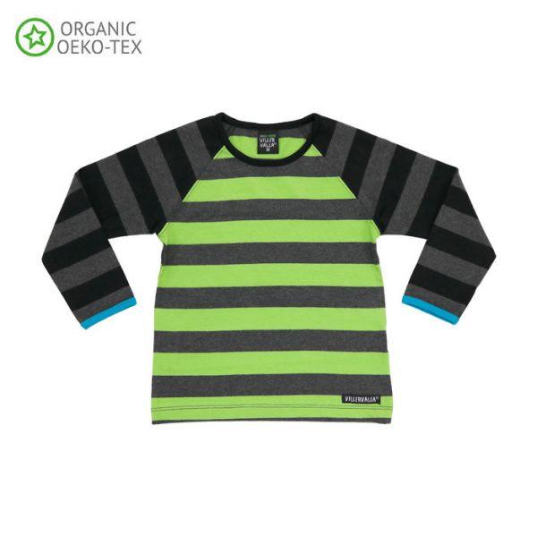 Villervalla Soft long sleeved tricot t-shirt avocado/night