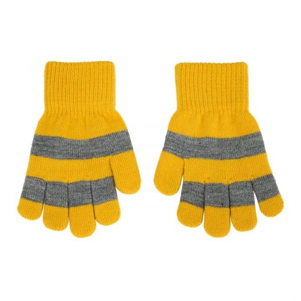 Villervalla gestrickter Fingerhandschuhe mustard
