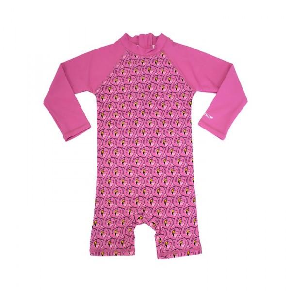 Villervalla UV-Overall flamingo/flamingo mit 50+ Schutz