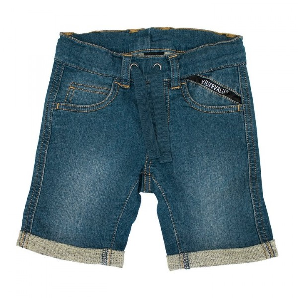 Villervalla Capri Shorts aus Sweat Denim used vintage