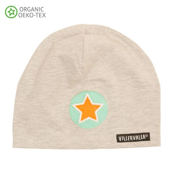 Villervalla Soft tricot hat grey melange