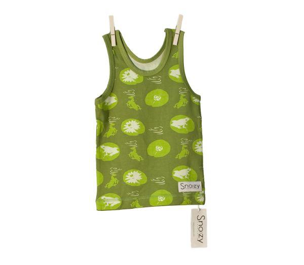Snoozy Tank Top - Green Frog