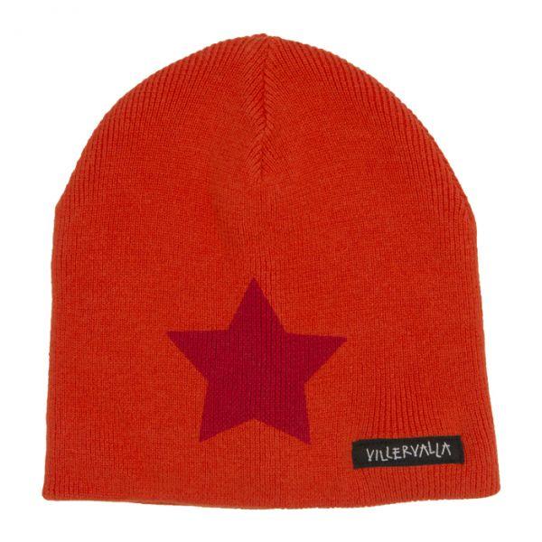 VILLERVALLA Knitted hat ORANGE
