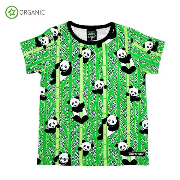Villervalla kurzärmliges T-shirt panda