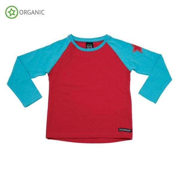Villervalla langärmliges T-shirt riviera/rhubarb