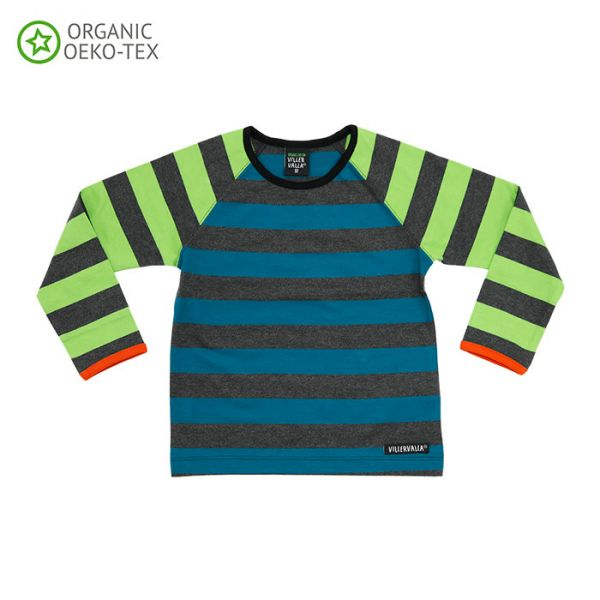 Villervalla Soft long sleeved tricot t-shirt for adults pacific/avocado