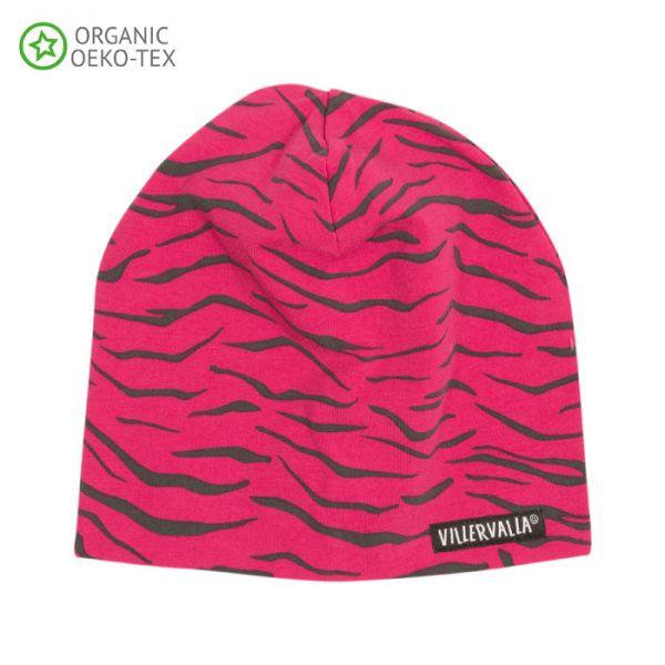 Villervalla Soft tricot hat cranberry
