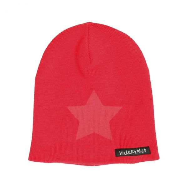 VILLERVALLA knitted hat SOLID DRK TOMATO