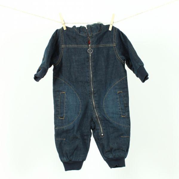 VILLERVALLA Gefütterter Jeansoverall PADDED OVERALL - DARK DENIM