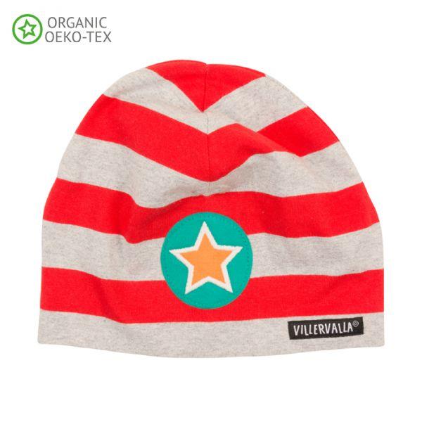Villervalla Soft tricot hat strawberry