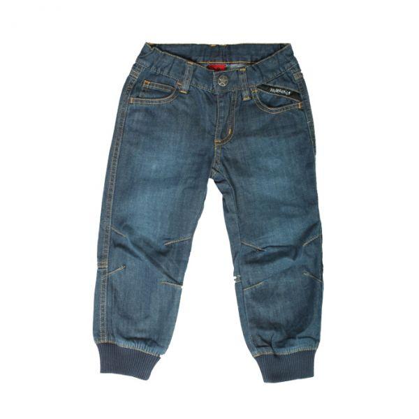 VILLERVALLA pants with cuff DARK DENIM