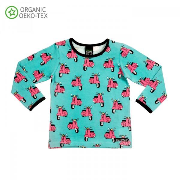 Villervalla langärmliges T-shirt wave
