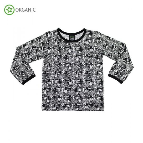 Villervalla langärmliges T-shirt zebra
