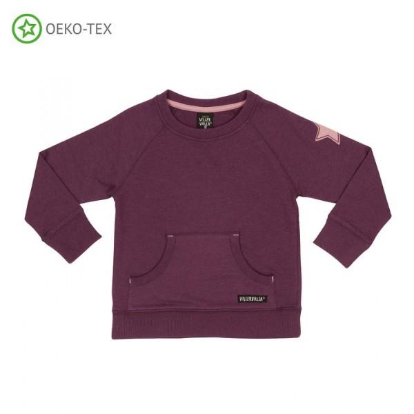 Villervalla Sweatshirt mit Taschen grape/orchid