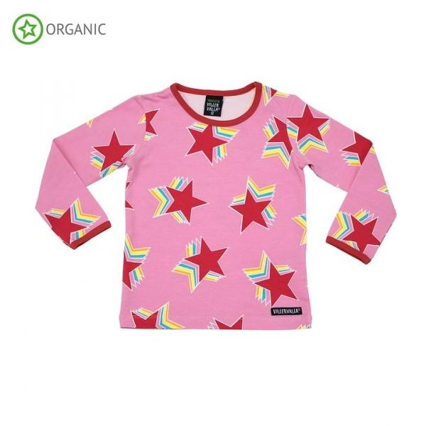 Villervalla langärmliges T-shirt azalea