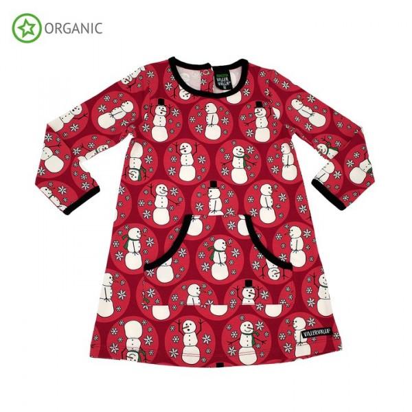 Villervalla langärmliges Kleid red