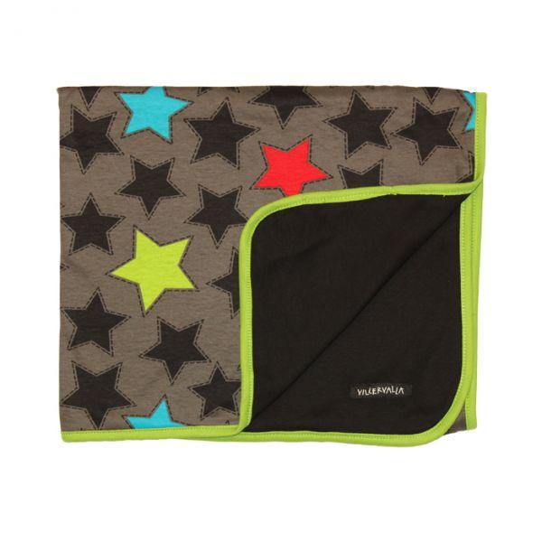 VILLERVALLA reversible blanket STARS BLACK