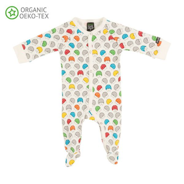 Villervalla Soft long sleeved pyjamas with foot hedgehog, for babies