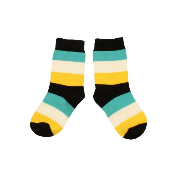 VILLERVALLA socks BLACK MULTISTRIPE