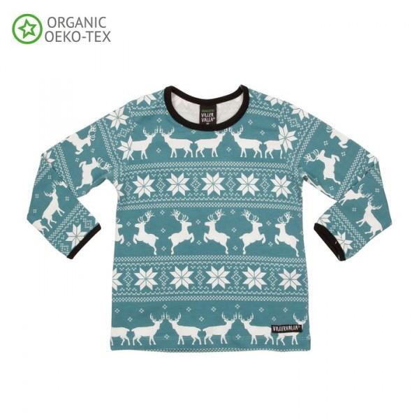 Villervalla langärmliges T-shirt sea