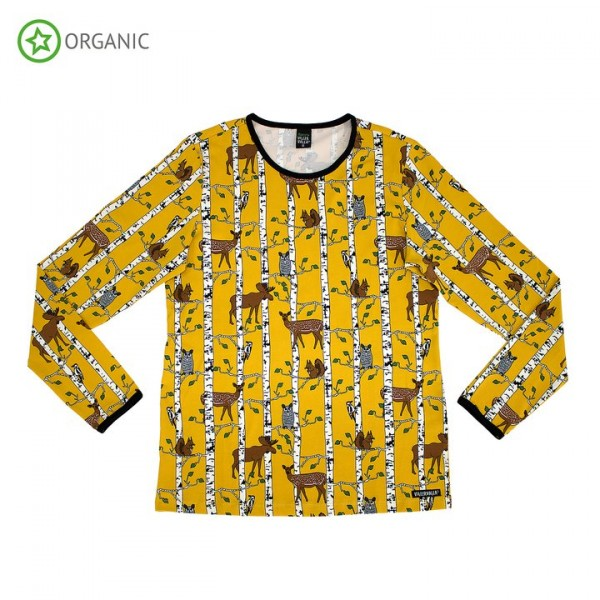 Villervalla langärmliges Tshirt für Erwachsene mustard