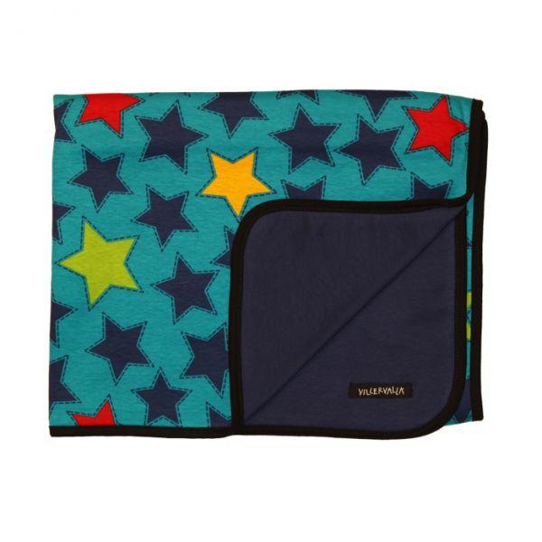 VILLERVALLA reversible blanket STARS DRK BLUEBERRY