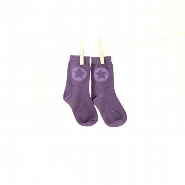 VILLERVALLA Socken SOCKS SOLID - DRK VIOLET