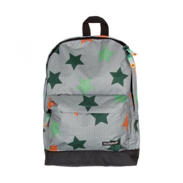 Villervalla Rucksack Knitted Star Print breeze one size junior 12 L
