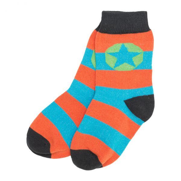 VILLERVALLA Socks Aqua/Orange