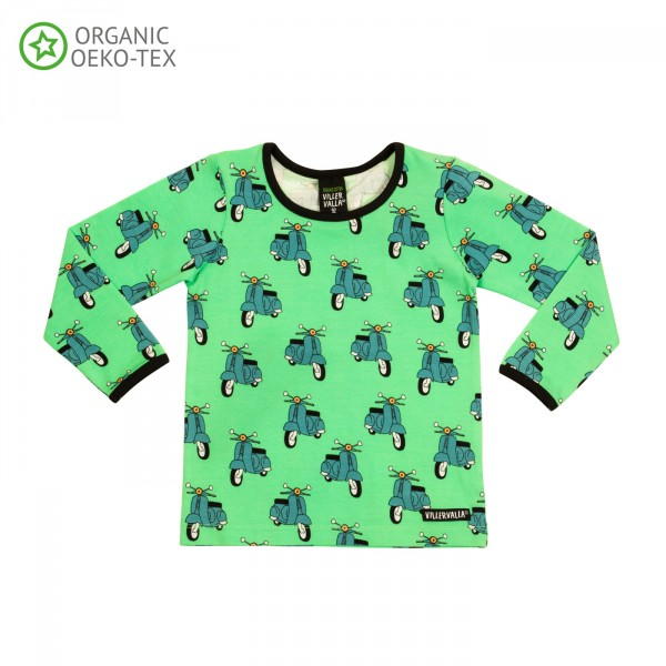 Villervalla langärmliges T-shirt pear
