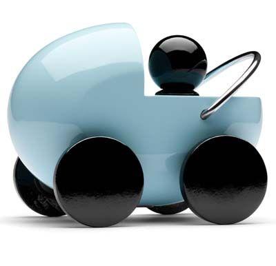 Kinderwagen hellblau