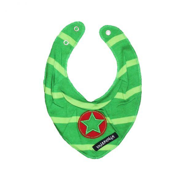 VILLERVALLA reversible scarf STRIPES DRK APPLE/CACTUS