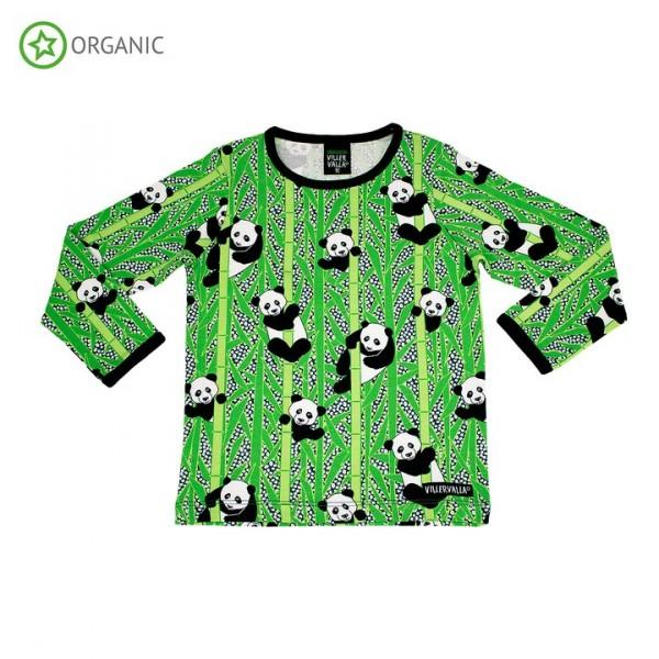 Villervalla langärmliges T-shirt panda