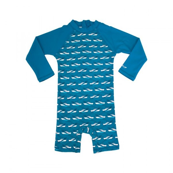 Villervalla UV-Overall shark/nautic mit 50+ Schutz