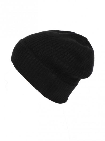 Zwillingsherz Mütze schwarz