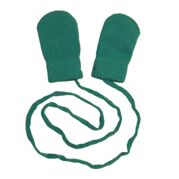 VILLERVALLA baby glove SOLID PETROL
