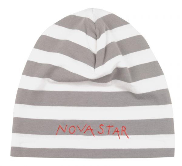 NOVA STAR Striped Beanie Grey