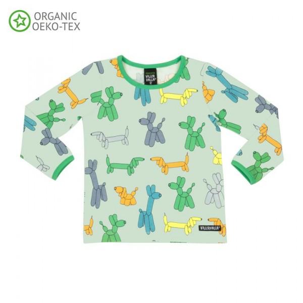 Villervalla langärmliges T-shirt pistachio