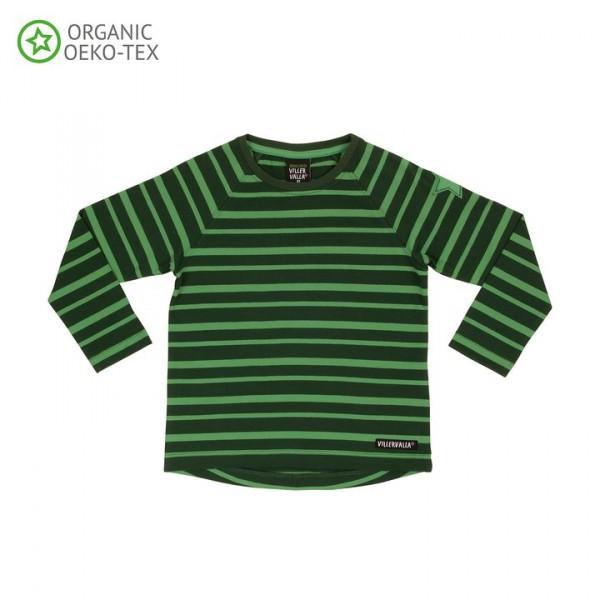 Villervalla langärmliges T-shirt drk pine/lgt pine