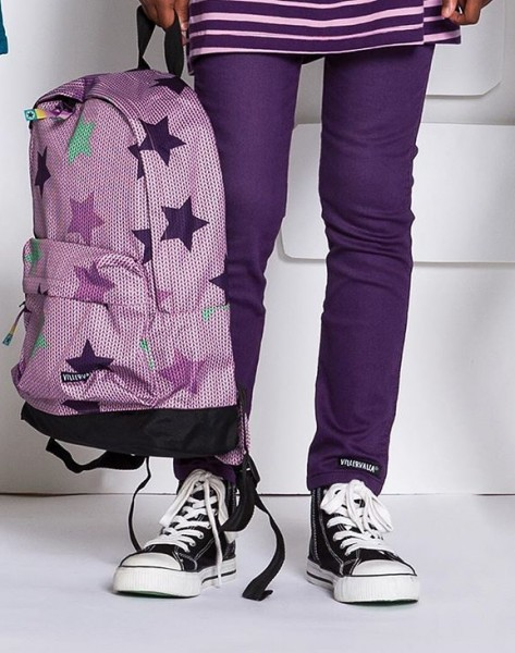 Villervalla Rucksack Knitted Star Print orchid one size junior 12 L