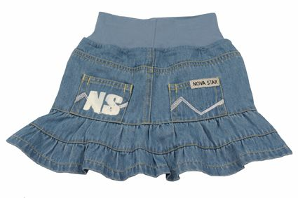 Denim Skirt Flounce