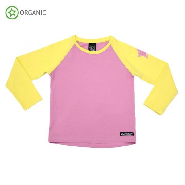 Villervalla langärmliges T-shirt azalea/lemonade