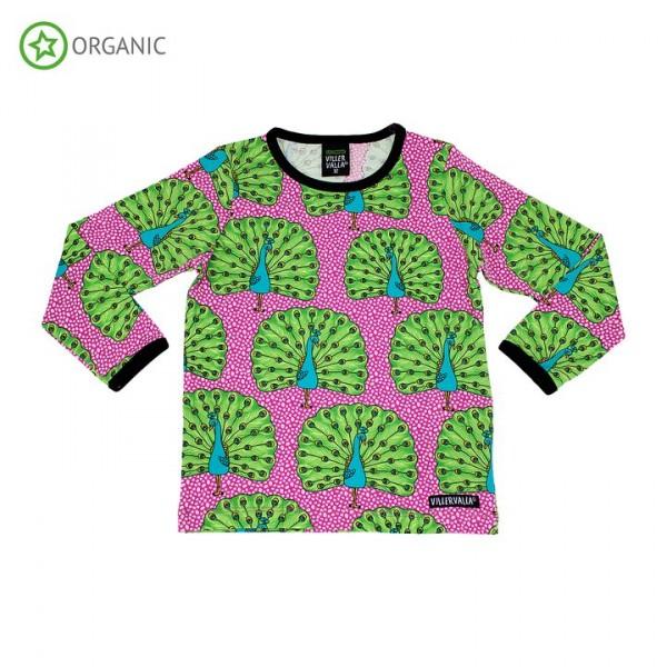 Villervalla langärmliges T-shirt peacock