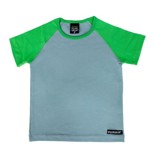 Villervalla Kurzarm Tshirt cement/pea