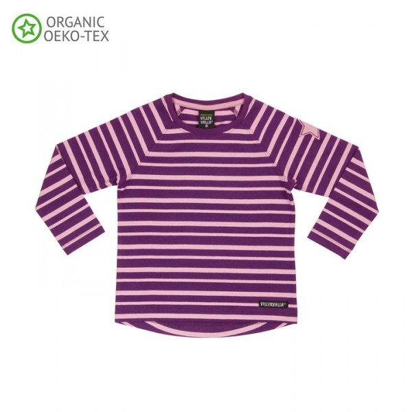 Villervalla langärmliges T-shirt für Erwachsene grape/orchid