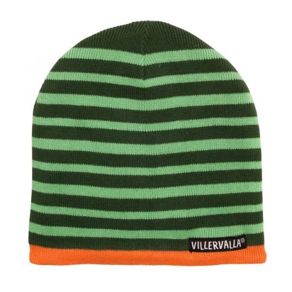Villervalla mit Fleece gefütterte Mütze drk pine/lgt pine
