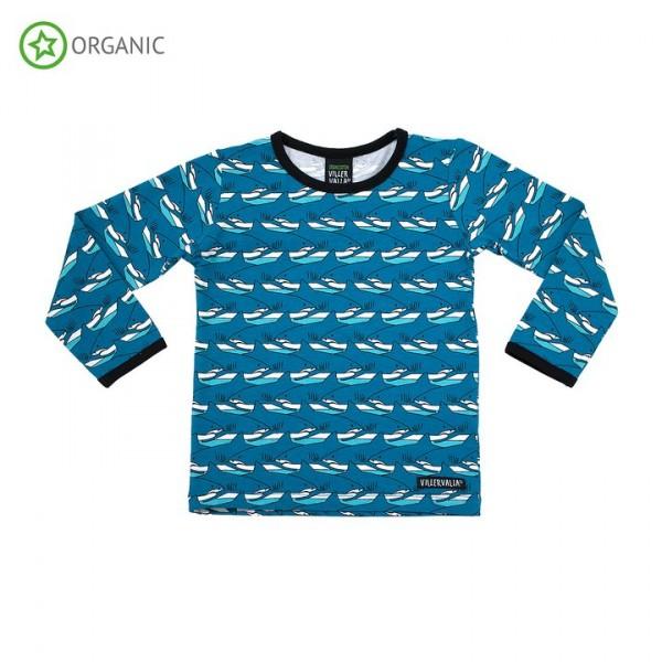 Villervalla langärmliges T-shirt shark
