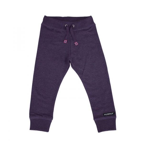 Villervalla Jogginghose purple mit Bündchen und Gummizug