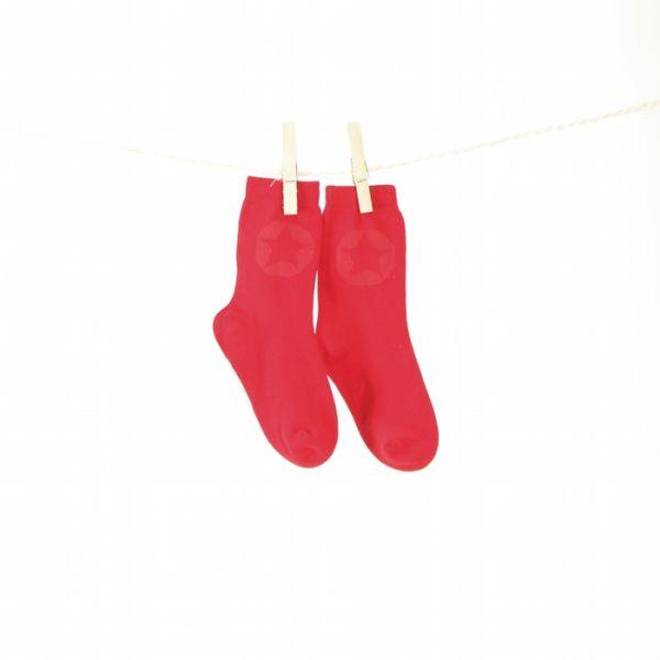 VILLERVALLA Socken SOCKS SOLID - DRK TOMATO