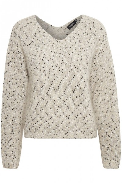 Soaked in luxury Chika Pullover light grey lurex